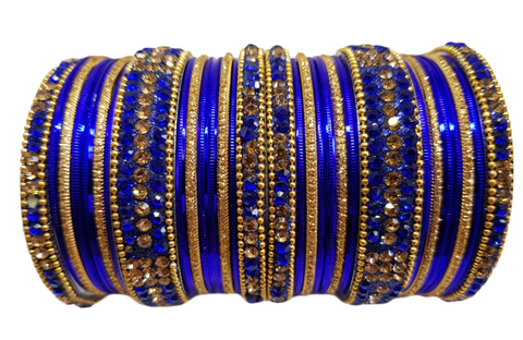 Bracelets bollywood Bleu roi - Narkis Fashion