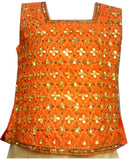 Lehenga choli Fille Shruthi - Beige et Orange - 3 ans