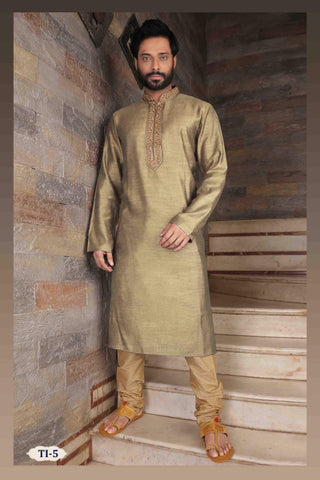 Costume Indien Vert Olive Aamir - Taille 42 - Narkis Fashion
