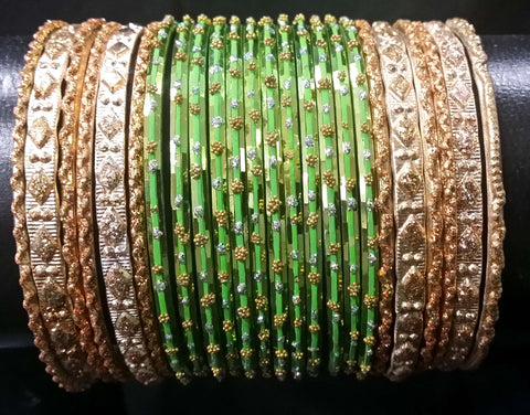 Bracelets Filles Vert Mohini - Lot de 24 - Narkis Fashion