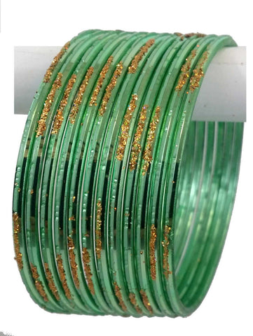 Bracelets Indien - Vert clair - Lot de 12 - Narkis Fashion