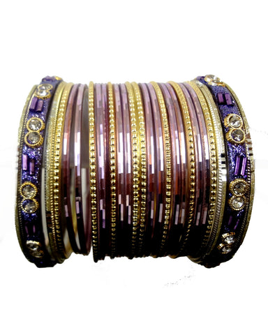 Bracelets Bollywood Sayira - Mauve - Narkis Fashion
