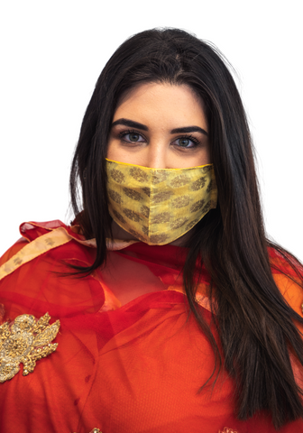 Masque facial Indien jaune - Narkis Fashion