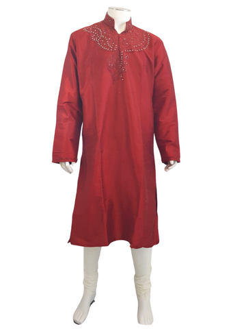 Costume bollywood Rouge Nizar - Taille 42