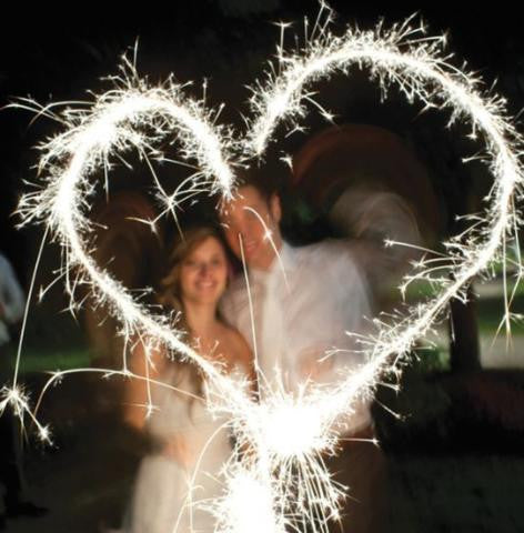 How to photograph writing with Wedding Sparklers