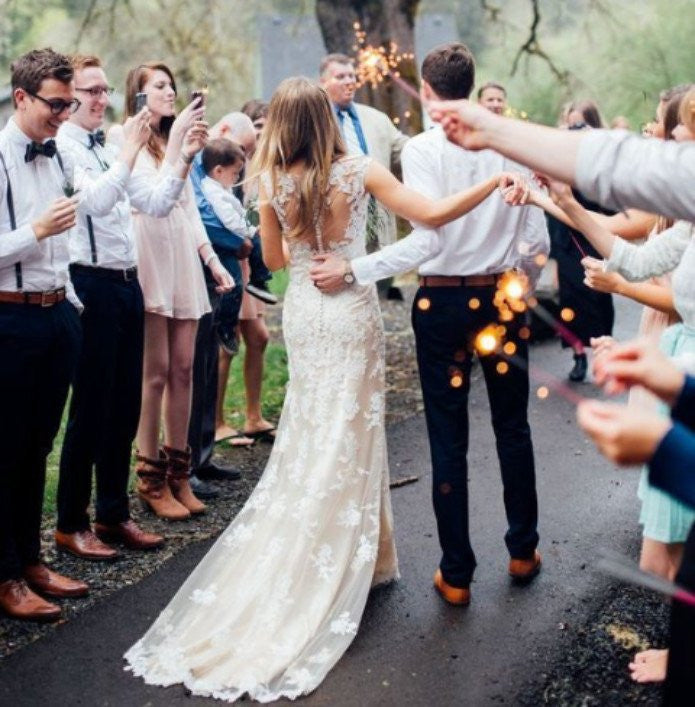 How to incorporate wedding sparklers into your wedding reception