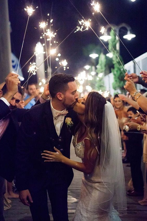 Wedding Sparklers are the Most Magical Way to Celebrate