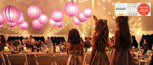 "Paper Lanterns 12""  12"" Round Paper Lanterns, Chinese Hanging Wedding & Party Decoration"