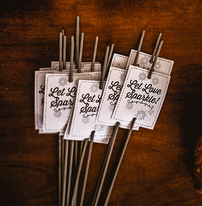 Wedding Sparkler Tags