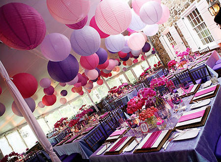 "Paper Lanterns - Purple 12""(6 lanterns per pack)"