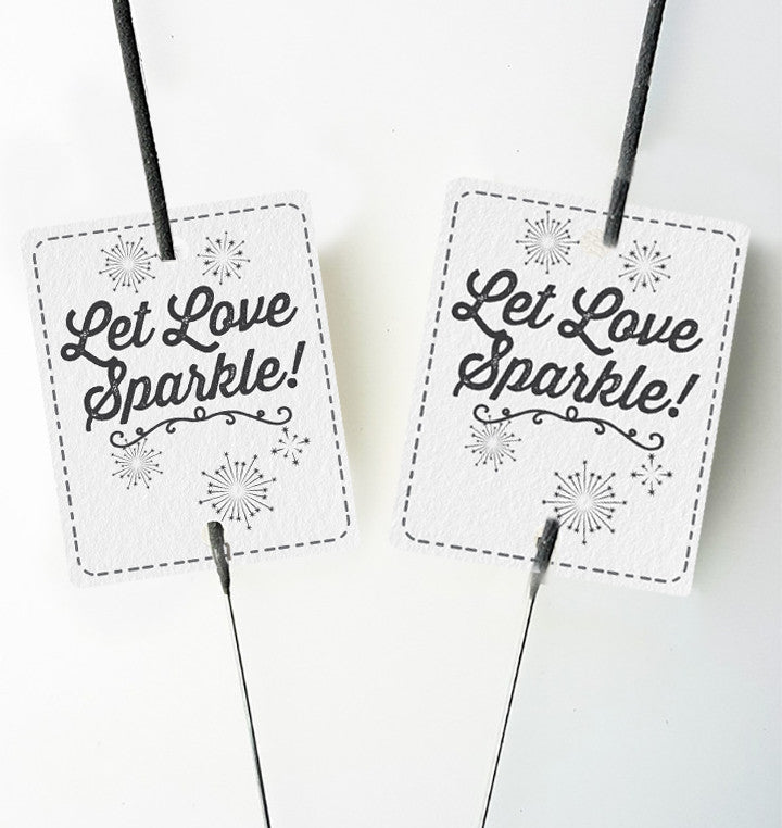 20 Inch Wedding Sparkler SET - Includes 20 inch Wedding Sparklers, 15 inch Bucket & Sparkler Tags