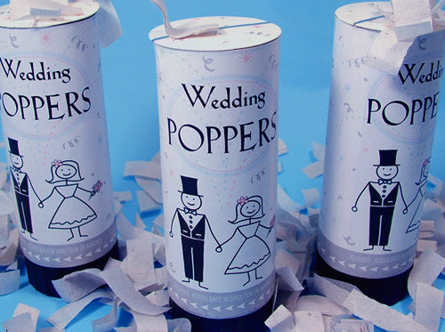Wedding Party Poppers Large (12 pack)