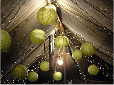 "Paper Lanterns - Green 12"" (6 lanterns per pack)"