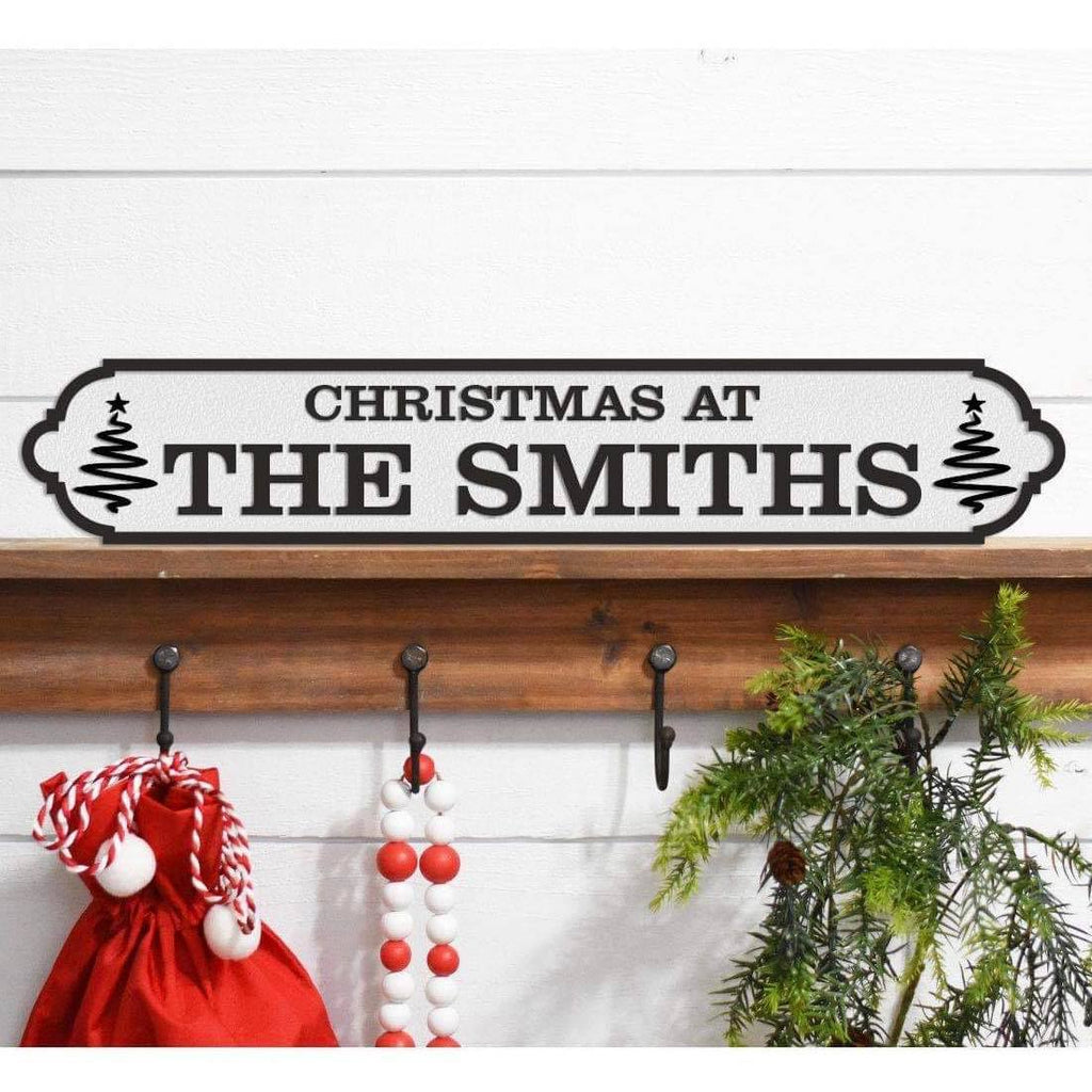 Christmas Acrylic Street Sign. Road Sign, waterproof, indoors, outdoors, freestanding