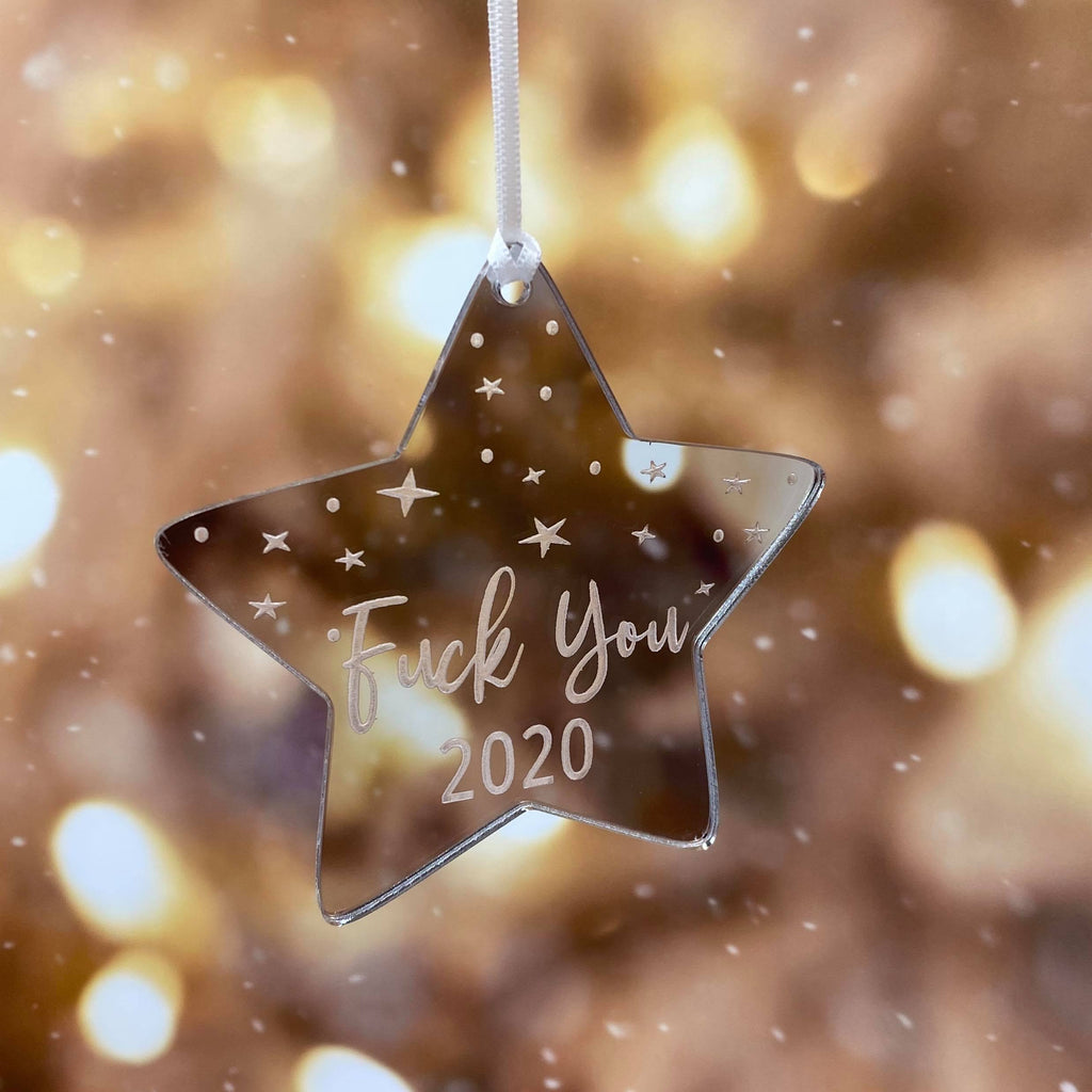 F@#K YOU 2020 CHRISTMAS DECORATION STAR