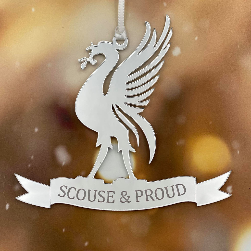 Scouse & Proud  Mirror Christmas Decoration