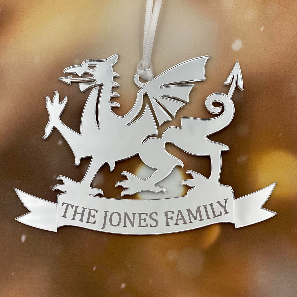 WELSH DRAGON PERSONALISED CHRISTMAS DECORATION
