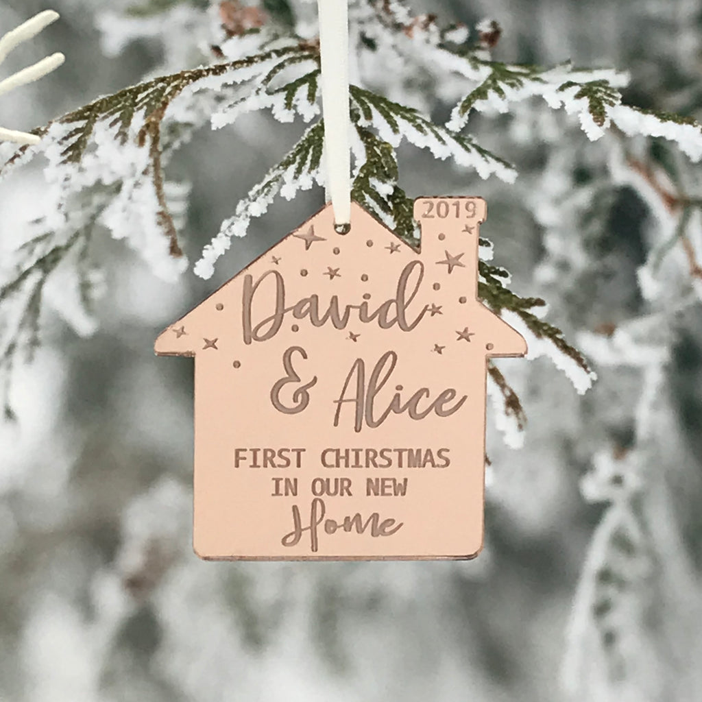 PERSONALISED NEW HOME CHRISTMAS DECORATION