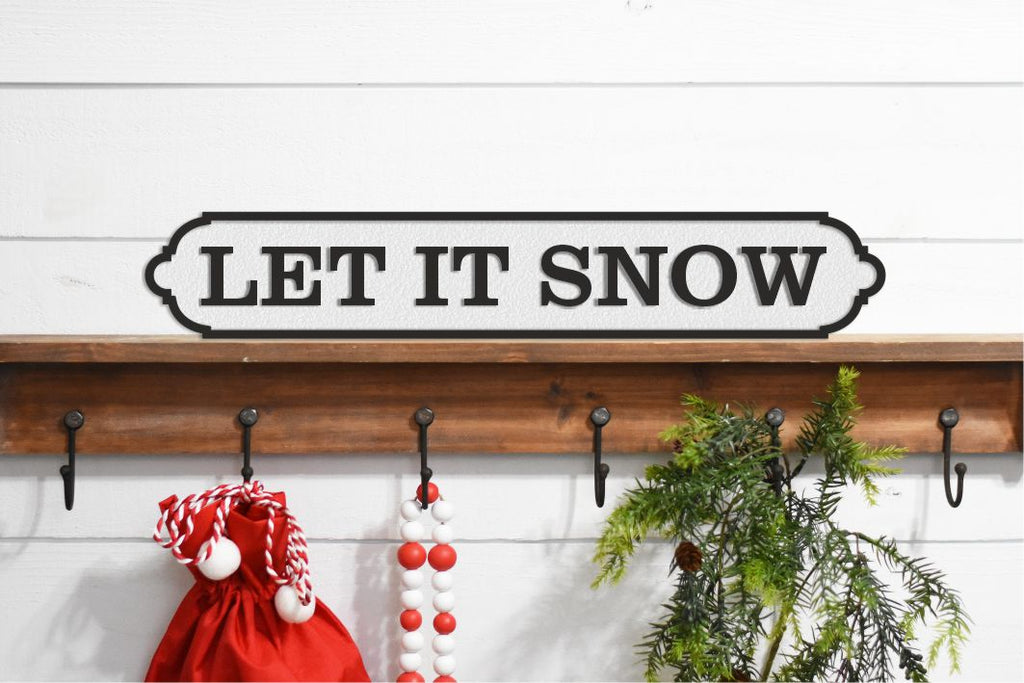 LET IT SNOW Christmas Sign  Acrylic Street Sign. Road Sign, waterproof, indoors, outdoors, freestanding.