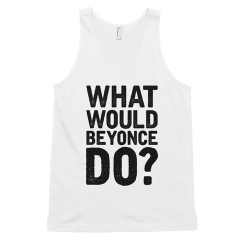 What Would Beyonce Do? Black Print - Classic tank top (unisex)