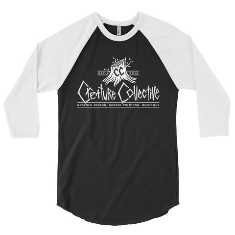 Creature Collective White Logo - 3/4 sleeve raglan shirt