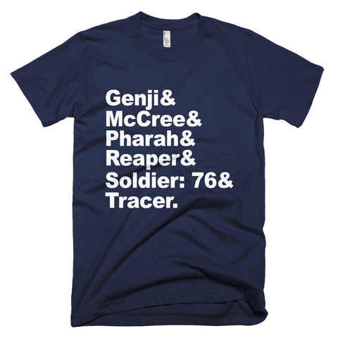 Overwatch Offense Players Names - Short sleeve men's t-shirt