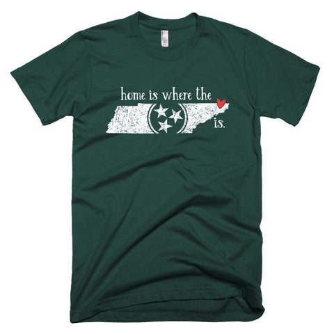 Home is where the heart is - Bristol, TN - Short sleeve men's t-shirt