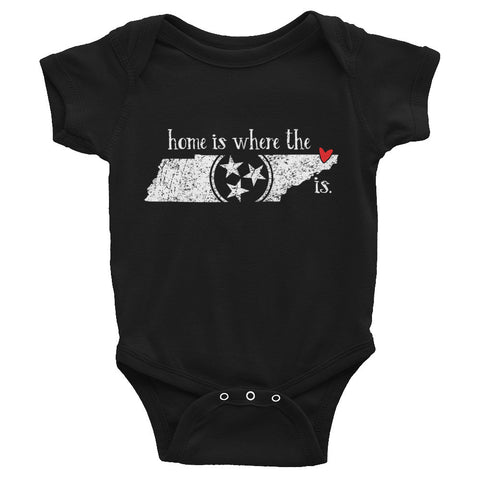 Home is where the heart is - Bristol, TN - Infant short sleeve one-piece