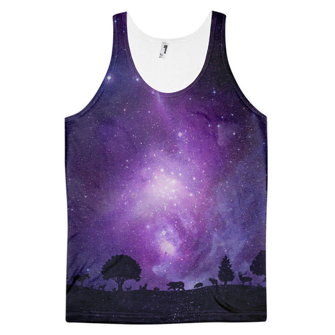 Creatures in the Forest Purple Galaxy Classic fit tank top (unisex)