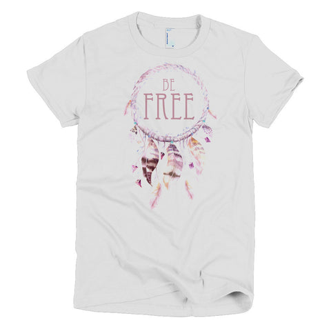 Be Free Dreamcatcher - Short sleeve WOMEN'S t-shirt - Creature Collective