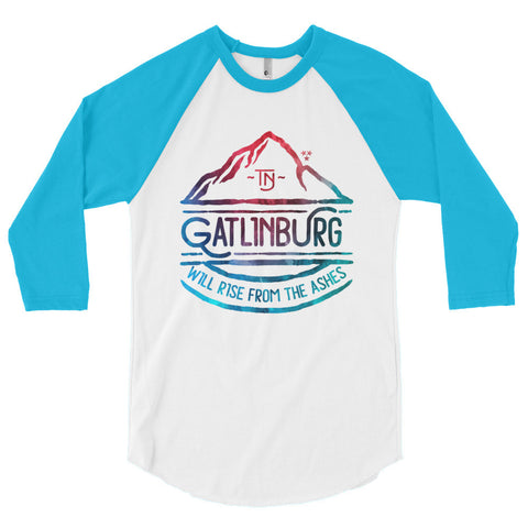 Gatlinburg Will Rise 3/4 sleeve raglan shirt