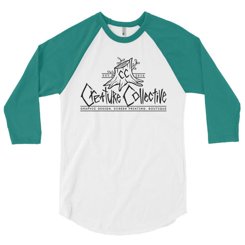 Creature Collective Black Logo - 3/4 sleeve raglan shirt