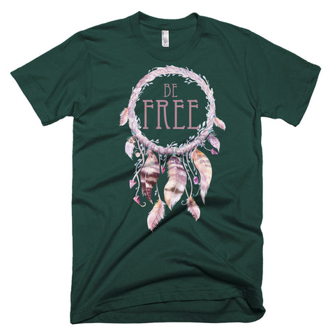 Be Free Dreamcatcher - Short sleeve men's t-shirt
