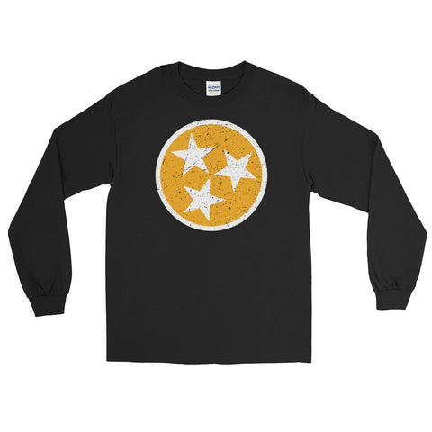 TN Circle and Stars - Orange and White - Long Sleeve T-Shirt