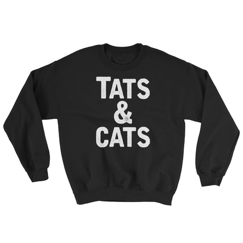 Tats & Cats White Print - Sweatshirt