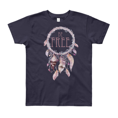 Be Free Dreamcatcher - YOUTH 8-12 Short Sleeve T-Shirt - Creature Collective
