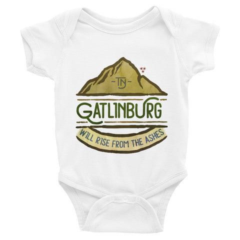 Gatlinburg Will Rise - Infant short sleeve one-piece