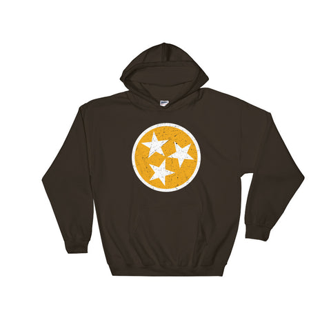 TN Circle and Stars - Orange and White - Hooded Sweatshirt