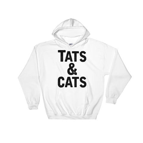 Tats & Cats Black Print - Hooded Sweatshirt - Creature Collective