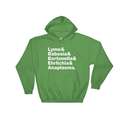 Lyme Disease and Co-Infections Names - Hooded Sweatshirt