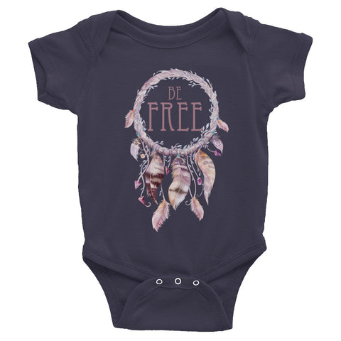 Be Free Dreamcatcher - ONESIE Infant short sleeve one-piece - Creature Collective