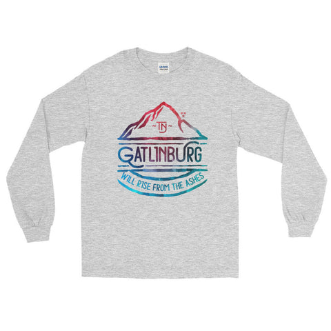 Gatlinburg Will Rise Watercolor - Long Sleeve T-Shirt