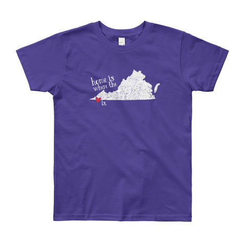 Home is where the heart is - Bristol, VA - YOUTH 8-12 yrs Short Sleeve T-Shirt