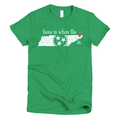 Home is where the heart is - Bristol, TN - Short sleeve women's t-shirt
