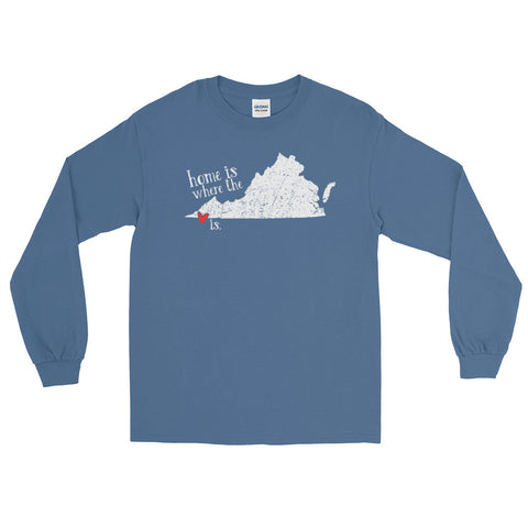 Home is where the heart is - Bristol, VA - Long Sleeve T-Shirt