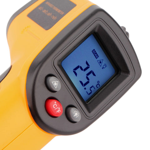 Digital Infrared Thermometer LCD Display - Conspicuitytape.co.uk