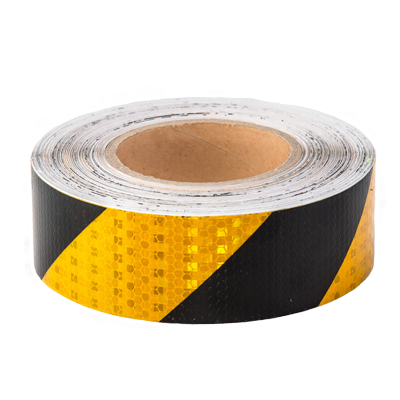Yellow & Black Reflective Hazard Tape - Conspicuity Tape .co.uk