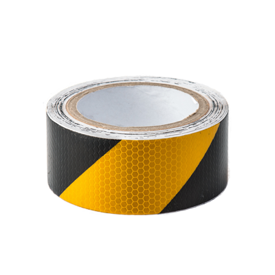 Black & Yellow Reflective Hazard Tape - Conspicuity Tape .co.uk