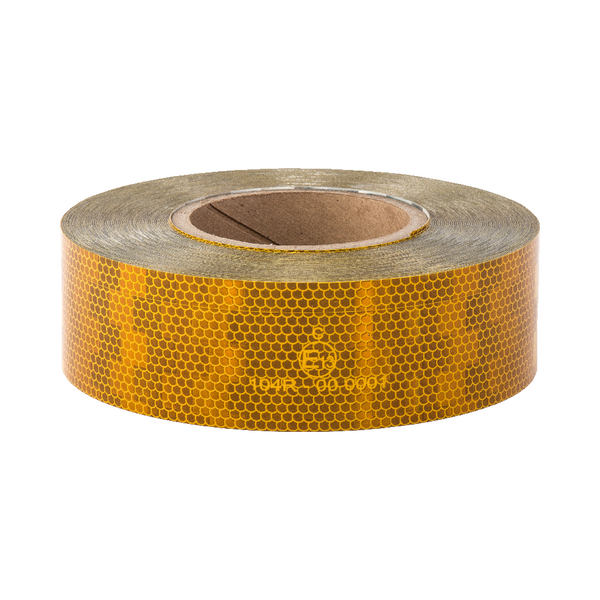 Avery V-6700 Yellow Rigid Conspicuity Tape 50 Meter Roll - ConspicuityTape.co.uk