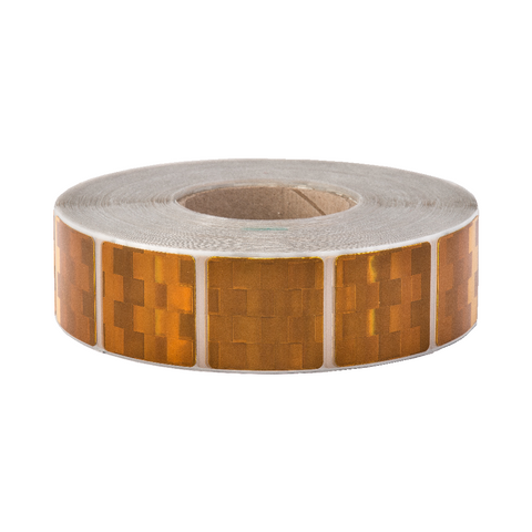 Avery V-6790 Yellow Segmented Conspicuity Tape 50 Meter Roll - ConspicuityTape.co.uk